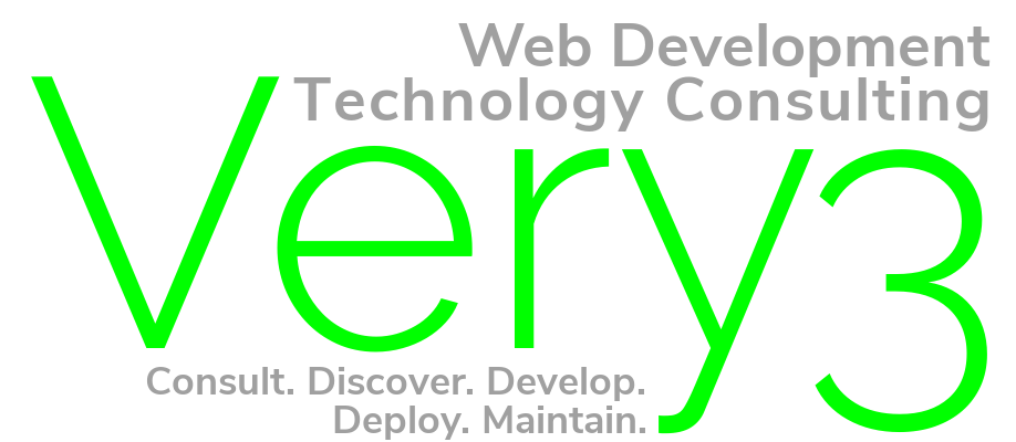Very3 Web Development/Technology Consulting: Consult. Discover. Develop. Deploy. Maintain.